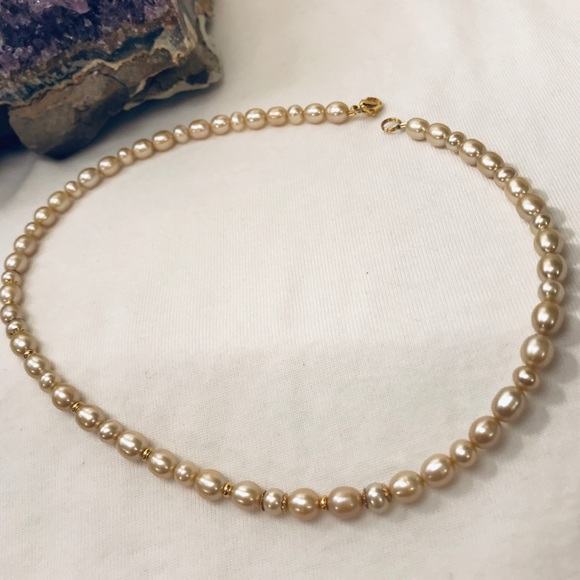 Jewelry - Golden Tahitian & Freshwater Pearl & Gold Necklace